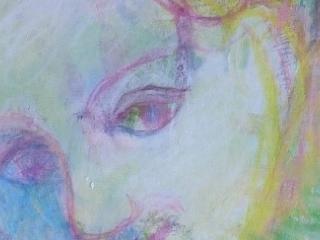detail, formaat 34 bj 24 cm, gewassen inkt in krijt, 2010